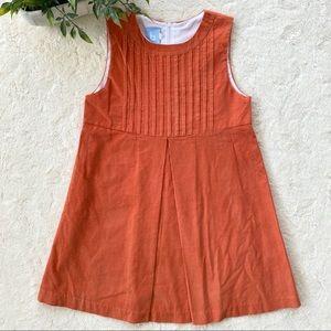 Bella bliss orange corduroy pleated dress